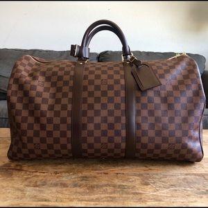 Louis Vuitton Damier Ebene Keepall 50